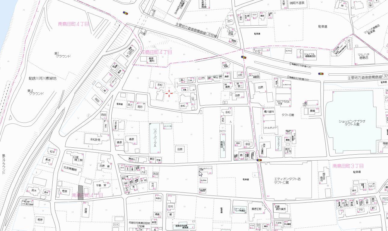 南島田町4丁目地図